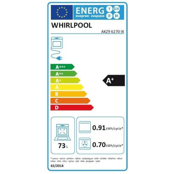 Whirlpool AKZ9 6270 IX Pirolitikus beépíthető sütő