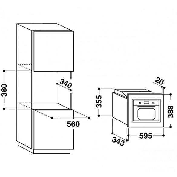Whirlpool AMW 1401/IX Beépíthető mikrohullámú sütő