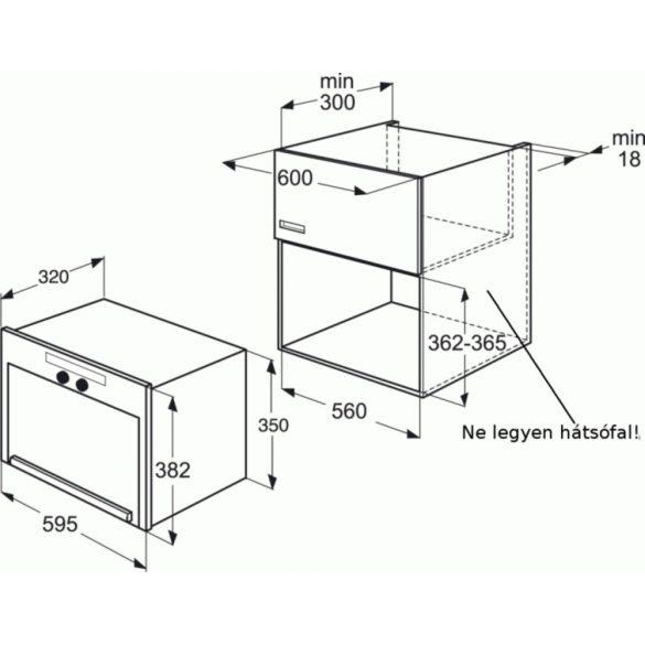 Whirlpool AMW 491/IX Beépíthető mikrohullámú sütő