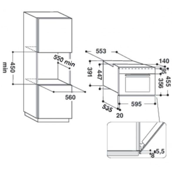Whirlpool AMW 506/IX Beépíthető mikrohullámú sütő