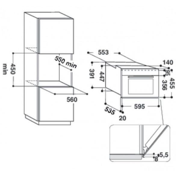 Whirlpool AMW 506/SD Beépíthető mikrohullámú sütő