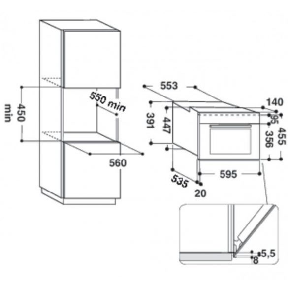 Whirlpool AMW 506/WH Beépíthető mikrohullámú sütő