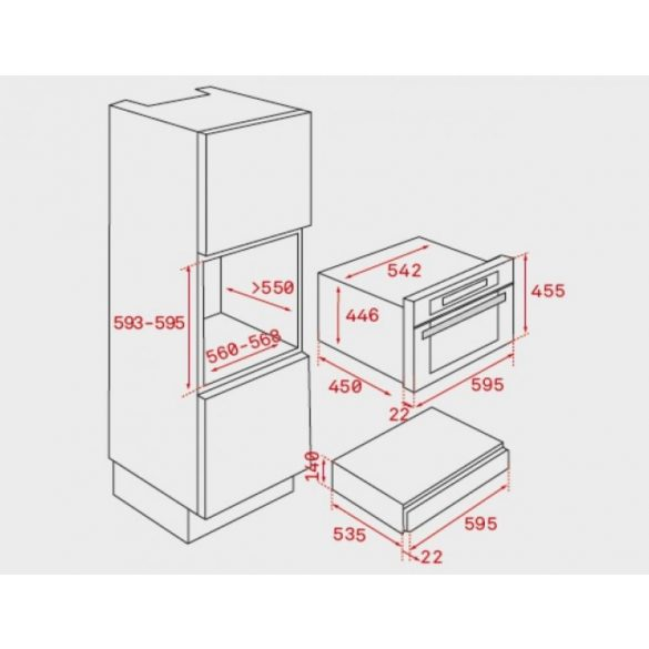 Teka CP 15 GS Beépíthető tányérmelegítő