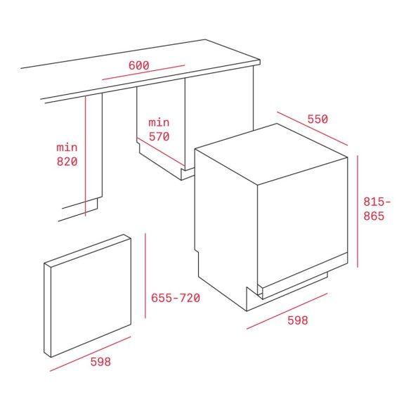 Teka DW8 55 FI Beépíthető mosogatógép
