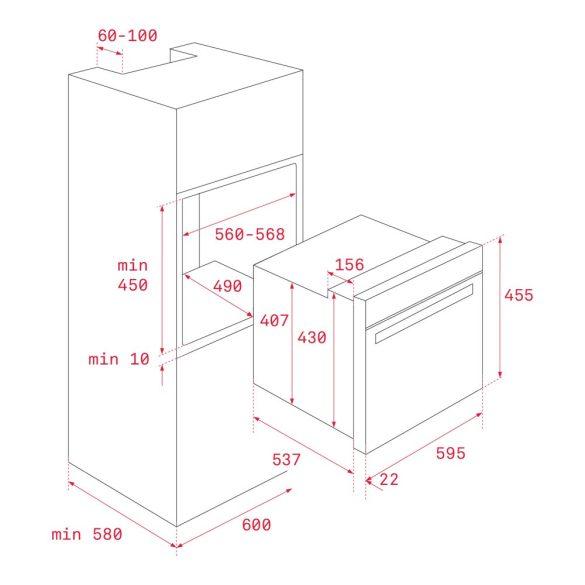 Teka HLC 840 Beépíthető kompakt sütő