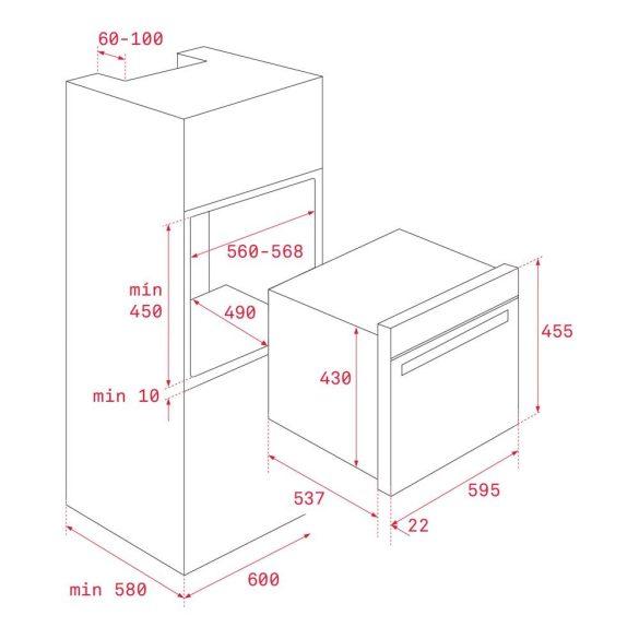 Teka HLC 844 C Beépíthető Kompakt Sűtő és Mikrohullámú Sütő