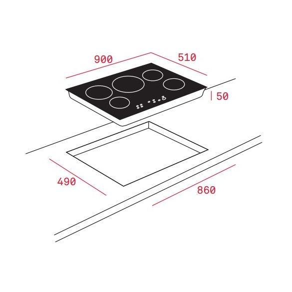 Teka IR 9530 Beépíthető indukciós főzőlap