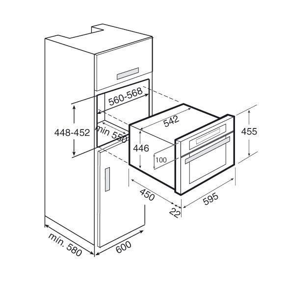 Teka MWR 32 BI Beépíthető kompakt mikrohullámű sütő bézs