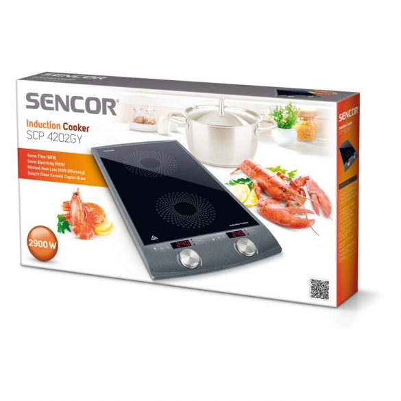 Sencor SCP 4202GY Indukciós főzőlap