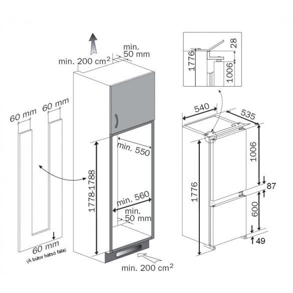 Teka TKI 4 325 Beépíthető hűtőszekrény