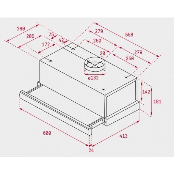 Teka TL 6310 inox beépíthető páraelszívó
