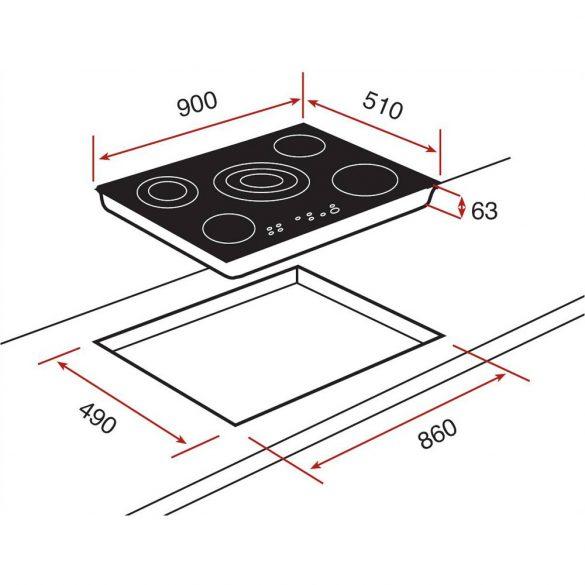 Teka TR 951 Beépíthető főzőlap