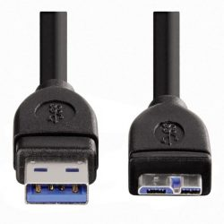 Hama 53749 USB-MICRO USB-B 3.0 Kábel 0,75M (USB A-MICRO USB B)