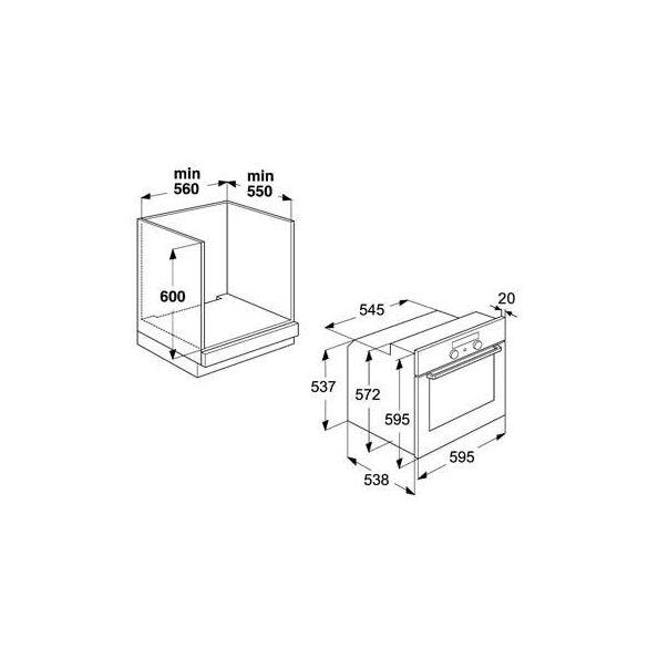 Whirlpool AKP 460/IX Beépíthető sütő