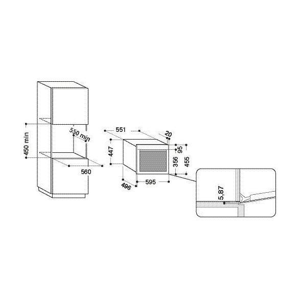 Whirlpool AMW 599/IXL Beépíthető gőzsütő és gőzpároló
