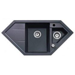 Teka Astral 80 E TG Metál fekete gránit mosogatótálca