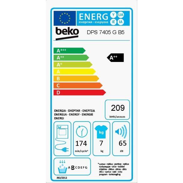 Beko DPS 7405 GB5 szárítógép 5 év garancia