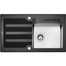 Teka Expression LUX 86 1B 1D Üveg mosogatótálca (fekete)