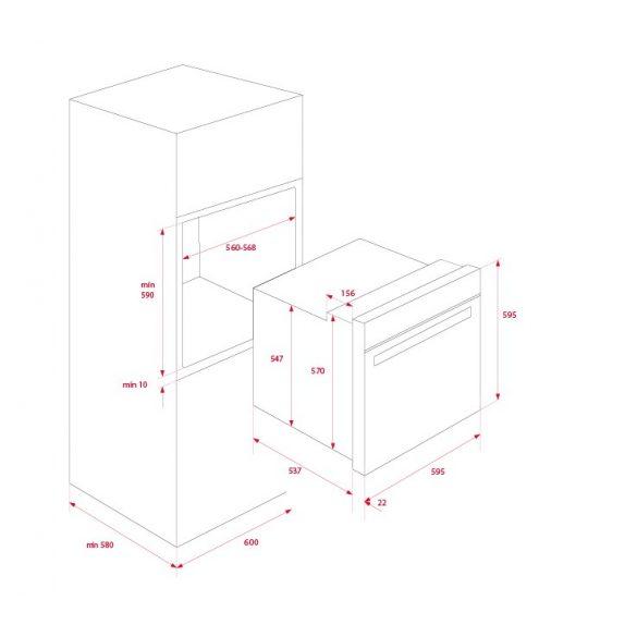 Teka HLB 860 Beépíthető pirolitikus sütő