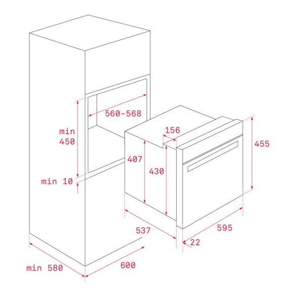 Teka HSC 635 Beépíthető kompakt sütő