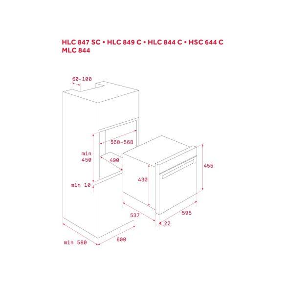 Teka HSC 644 C Beépíthető kompakt sütő