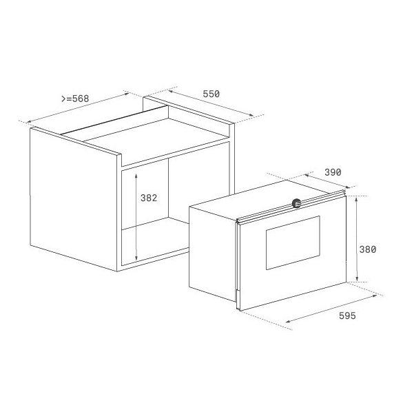 Teka ML 825 TFL Beépíthető mikrohullámú sütő