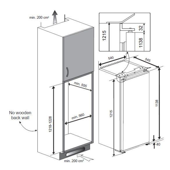 Teka TKI4 215 Beépíthető hűtőszekrény