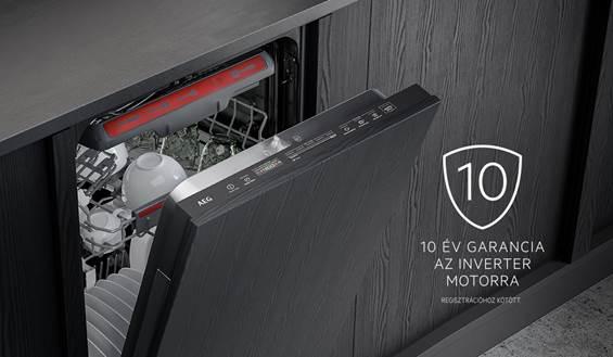 10 év garancia az AEG mosogatógépek inverter motorjára