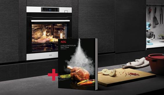 Ajándék exkluzív szakácskönyv az AEG gőzsütőkhöz.